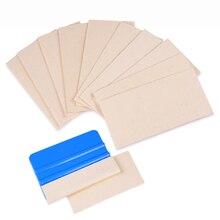 EHDIS – tissu en feutre de laine de rechange, 10 pièces, pour raclette demballage en vinyle de 4 pouces 10cm, grattoir en feuille de carbone, teinte de fenêtre