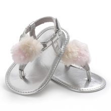 736f76609495 Summer Baby Girl Solid Color Sandals Fashion Feet Casual Sandals Children s  PU Soft-Soled Shoes