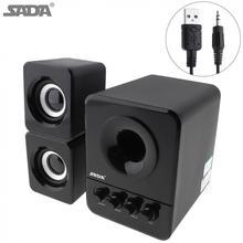 Sada mini caixa de som portátil com fio, com fio, tipo caixa de som, 3w, pc, combinação, com usb 2.1 para computador portátil