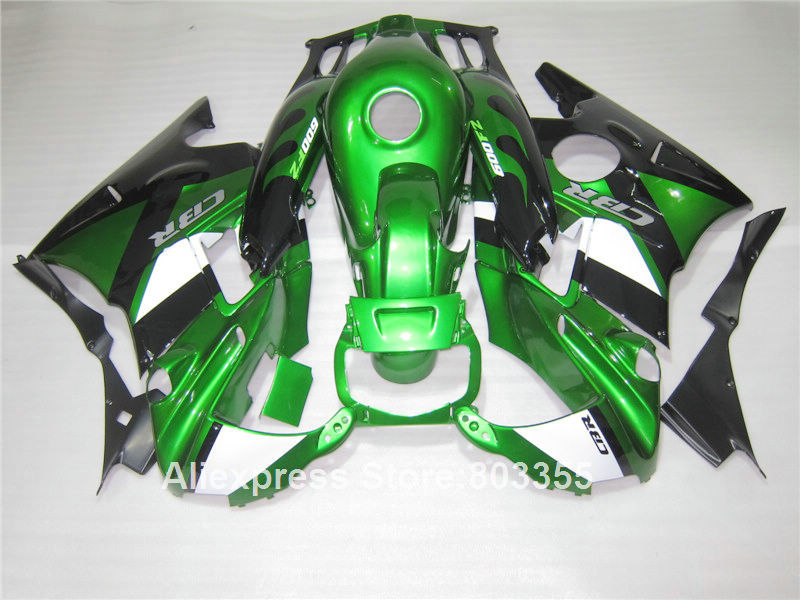 Обтекателя комплект для Honda CBR600 F2 1994 1993/1992 1991 CBR 600 (зеленый металлик) обтекатели 91 92 93 94 F2 xl113