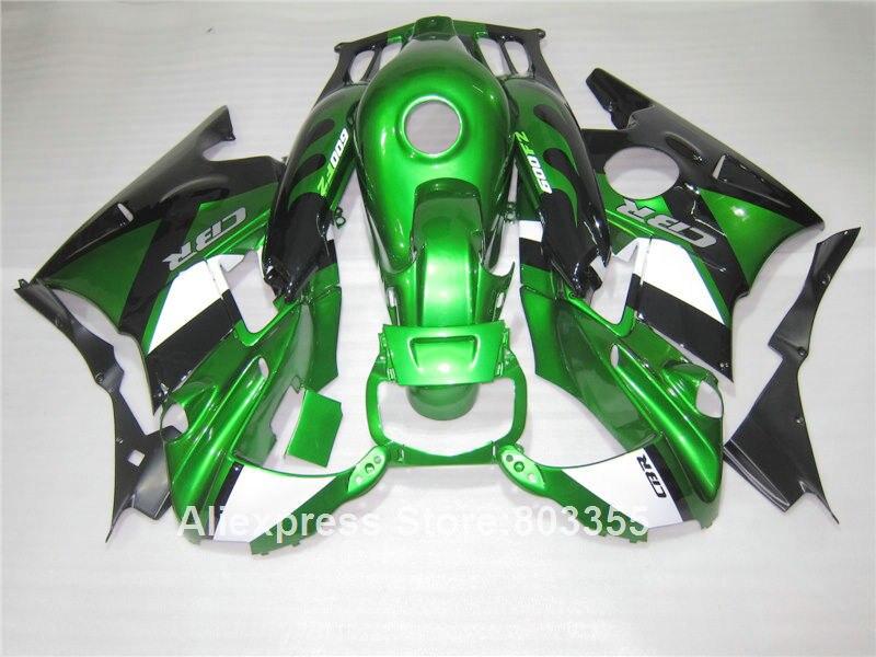 Carénage kit pour HONDA CBR600 f2 1994 1993/1992 1991 cbr 600 (vert métallique) carénages 91 92 93 94 f2 xl113