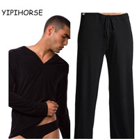 Male Sleepwear Male Pajama Pants Viscose Sleepwear Pajama Pants Set Sleepwear Yoga Clothes
