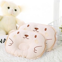 Cotton baby pillow anti-deviation in decorative room of newborn color cartoon embroidered four-season soft