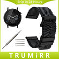 Milanese Stainless Steel Watch Band + Tool for Moto 360 2 46mm Samsung Gear 2 R380 Neo R381 Live R382 Replacement Strap Bracelet