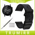 Milanese faixa de relógio de aço inoxidável + ferramenta para moto 360 2 46mm samsung gear 2 r380 neo r381 live r382 substituição alça pulseira