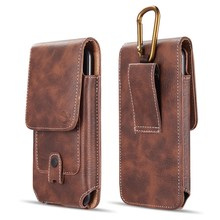 Phone Pouch Belt Clip Leather case universal holster waist bag for