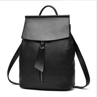 COOL WALKER New Fashion Women Backpack Black High Quality Youth Leather Backpacks For Teenage Girls Female School Shoulder Bag