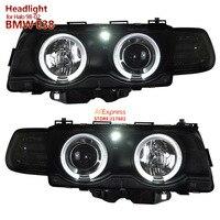for BMW 7 Series E38 728 730 735 740li 750 Angel Eye Car lights Headlights Assembly fit 1998 2002 Halo models