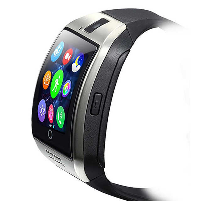 Stepfly Bluetooth Smart Watch Q18 With Camera Facebook Whatsapp Twitter Sync SMS Smartwatch Support SIM TF Card For IOS Android