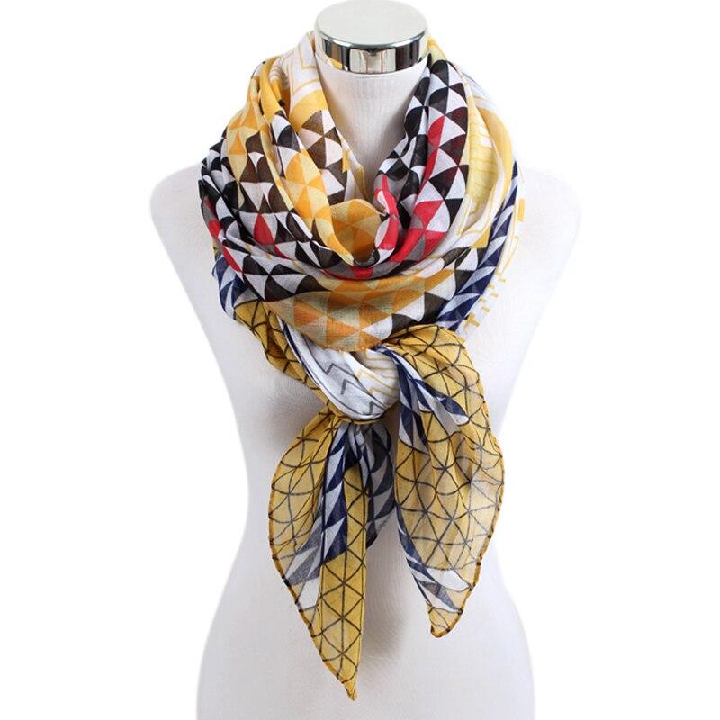Diskret Mode Frau Schals Mit Geometric Floral Gedruckt Schal Für Frauen Mädchen 90 Cm * 180 Cm Große Größe Sommer Schals Weiche Bls025 GroßE Vielfalt