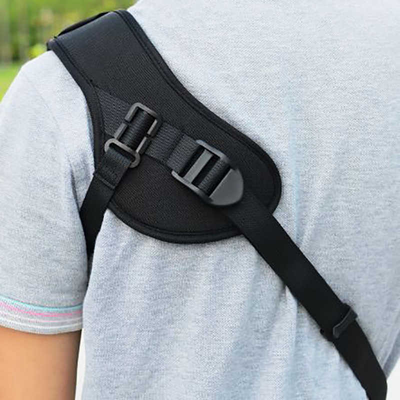 Focus F-1 Shoulder Sling Belt For Camera Quick Carry Speed Sling Soft Neck Strap For Canon Nikon Sony Pentax Olympus DSLR Black