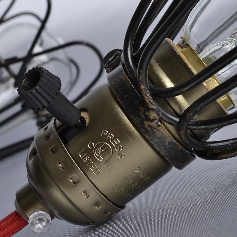 Dəmir qəfəs asqı İşıq + ST64 Edison ampüller Amerika ölkəsi - Daxili işıqlandırma - Fotoqrafiya 4