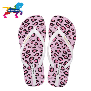 Image 5 - Hotmarzz Frauen Sandalen Sommer Designer Flip Flops Flache Leopardenmuster Strand Schuhe Damen Spa Yoga Rutschen