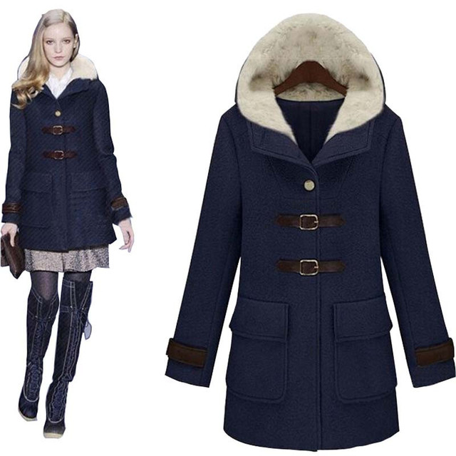 Online Shop New Fashion Winter Coat Women Long wool coats women ...
