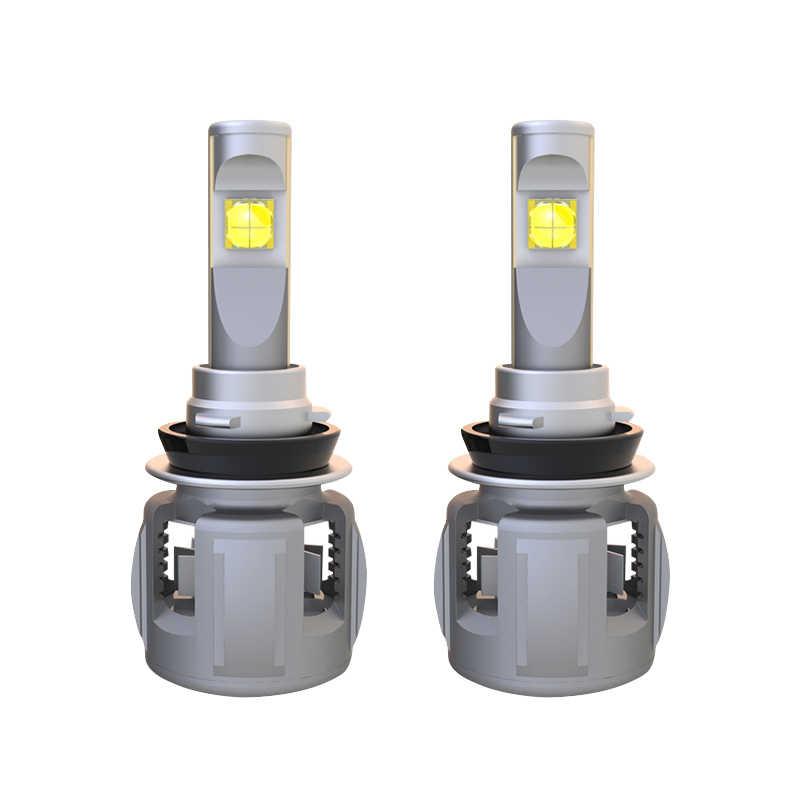 1 Set H8 H9 H11 120W 15600LM XHP-70 Lens Chips X70 Car LED Headlight Front Lamp Bulbs H4 H7 9005/6 HB3/4 9012 D1S/D2S/D3S/D4S 6K