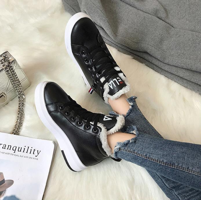 Chaussures Coréenne Solide La Chaud Femmes blanc rose De Coton Version Bottes 2018 Neige Nouveau Velours Noir Hiver Plus Sauvage Couleur xw1AxpfXq