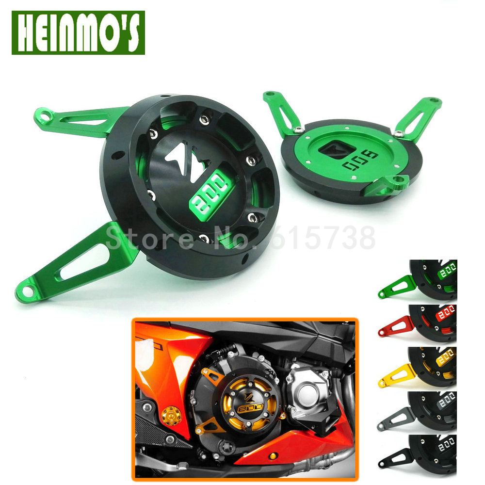 Motorcycle Engine Stator Cover Engine Protective Cover Green for Kawasaki Z800 2013-2015 Motorbike Aluminum Gold Red Parts new products motorcycle engine protective protect cover stator engine covers for kawasaki zx10r 2011 2012 2013 2014 2015 2016