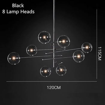 Postmodern LED chandelier ceiling living room hanging lights home fixtures Nordic dining room pendant lamps Glass ball lighting 8