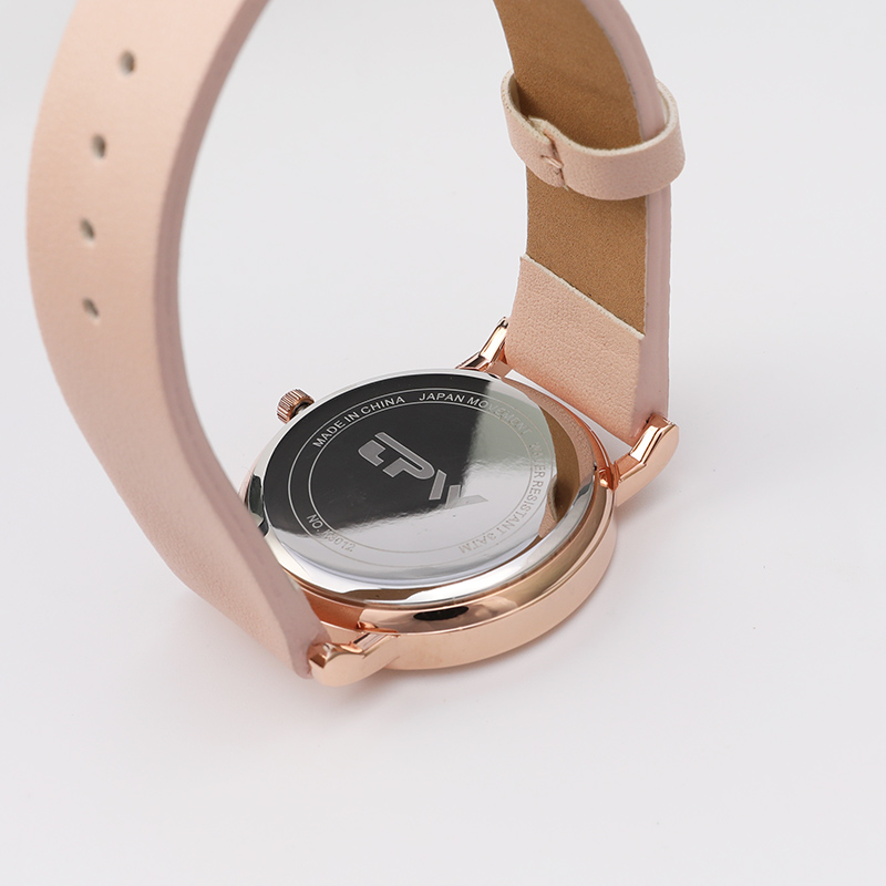 Tropical Pattern Watch Flamingo Bird On Dial Candy Strap Watch Let's Pink Lovely Watch For Girls Rosegold Sky Blue Strap