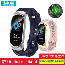 QW16 Smart Band Heart Rate Tracker Fitness Smartband Bracelet Waterproof Wristband Watch Men