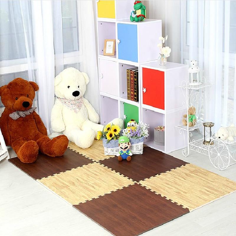 meitoku boby wood grain play puzzle mat