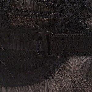 """Image 5 - Ccutoo 12 """"מיילס Edgeworth תסרוקות מרכזית פרידה גריי קצר המפלגה של התנגדות חום שיער סינטטי קוספליי פאה לגברים"""