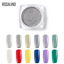 ROSALIND Nail Glitter Silver Pigment Powder Magic Mirror 1g Boxed Manicure Kit Art NROC