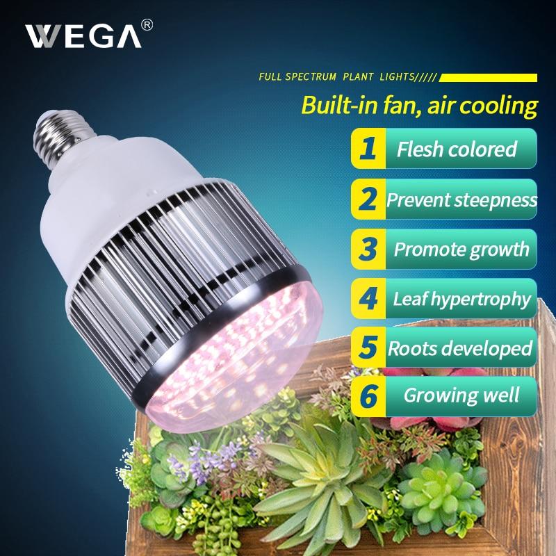 WEGA Full Spectrum LED Plant Growth Lamp Wavelength 400-800nm 30W/50W Flower Greenhouse Vegetable Lights Plant Fan Growth Lights