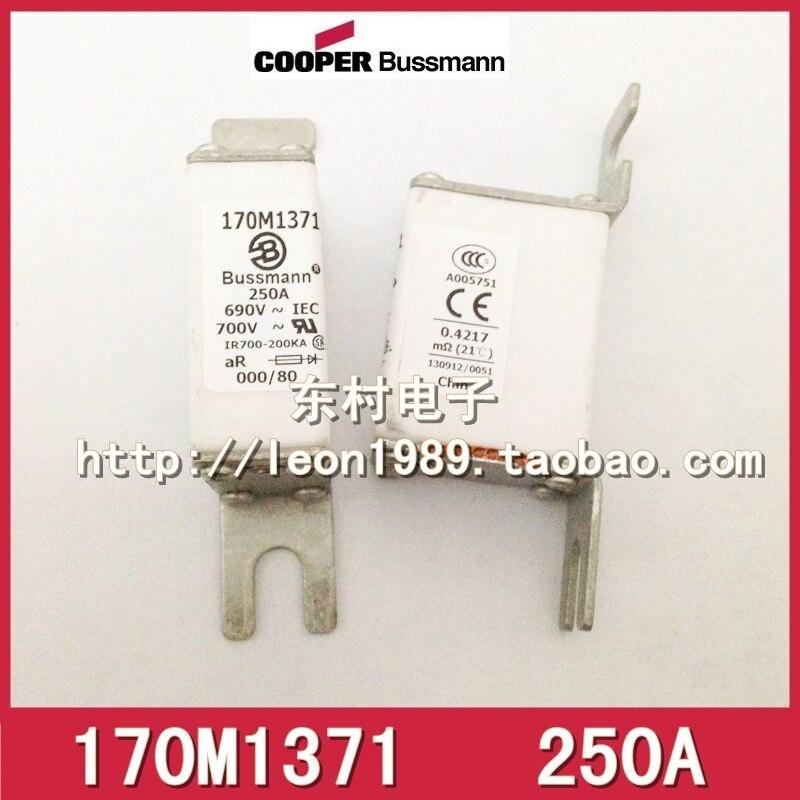 American original fuse BUSSMANN 170M1371 170m1371D 250A 690V fuse пульсометр mio fuse s m cobalt