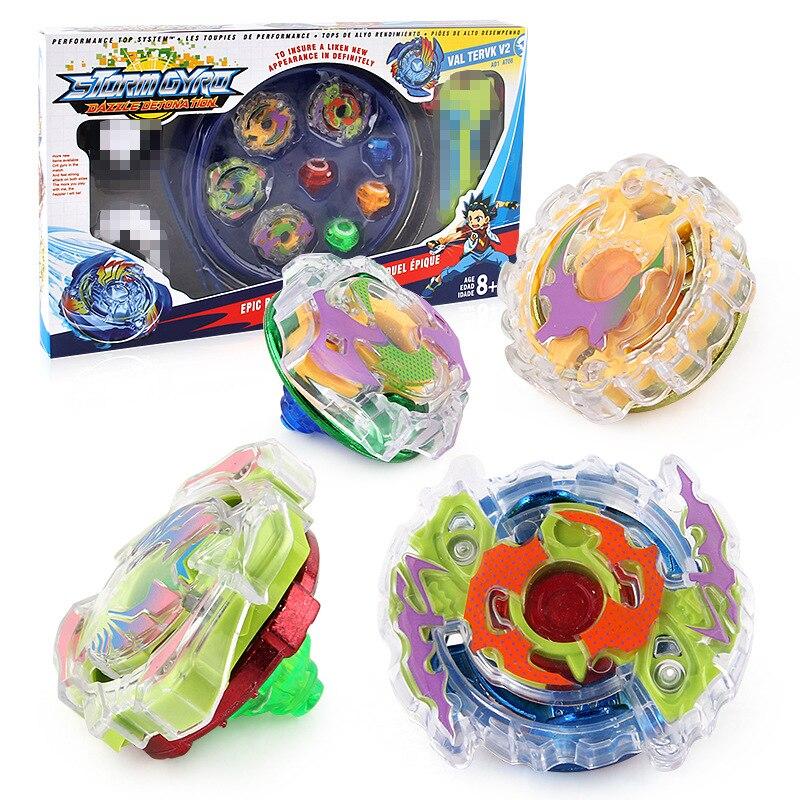 Toupies Blayblade rafale explosion Top jouet cercle 4 à 1 Bayblade rafale arène poignée bataille disque arène Set avec Spin Top lanceur