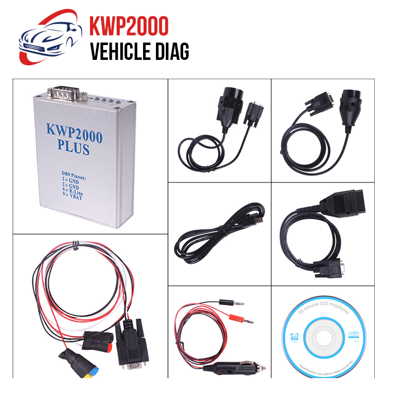 KWP2000 + ECU Flasher Chip Tuning KWP 2000 OBD2 for ECU Chip Tunning OBD II Auto Diagnostic Tool Code Scanner