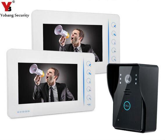 Yobang Security 7 Video Door Phone Intercom doorphone Monitor Intercom System Kit Free Doorbell Camera Home Video Door camera