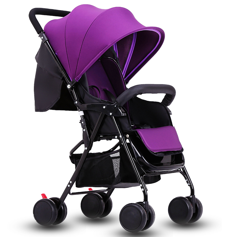 Baby stroller ultra-light portable easy folding baby car umbrella child stroller 6 colors 4 6kg baby sleeping 180 degree light folding portable ultra light baby car umbrella two way summer child trolley baby stroller