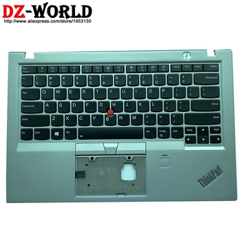 Palmrest Upper Case With US English Backlight Teclado for Lenovo Thinkpad X1 Carbon 5th Backlit Keyboard Bezel C Cover 01LV366