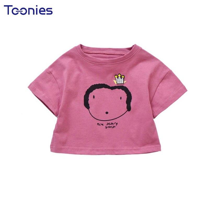 New Design Summer Girls T-shirt High Quality Cotton Kids Baby Girl Tshirt Pullover Tees Cute Cartoon Print Child Clothes Tops
