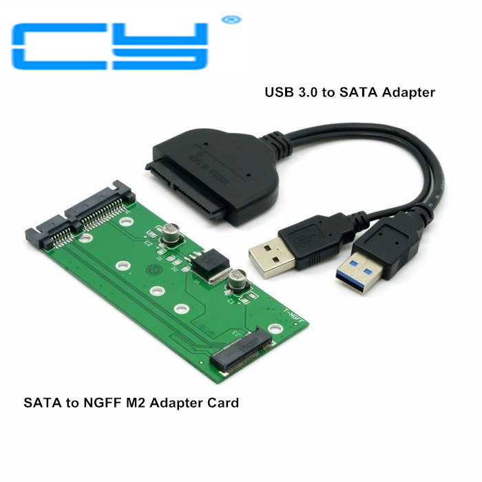 1set USB 3.0 USB3.0 to SATA 2.5 Hard Disk to M.2 NGFF PCI-E PCIE PCI Express 2 Lane SSD for E431 E531 X240 Y410P Y510