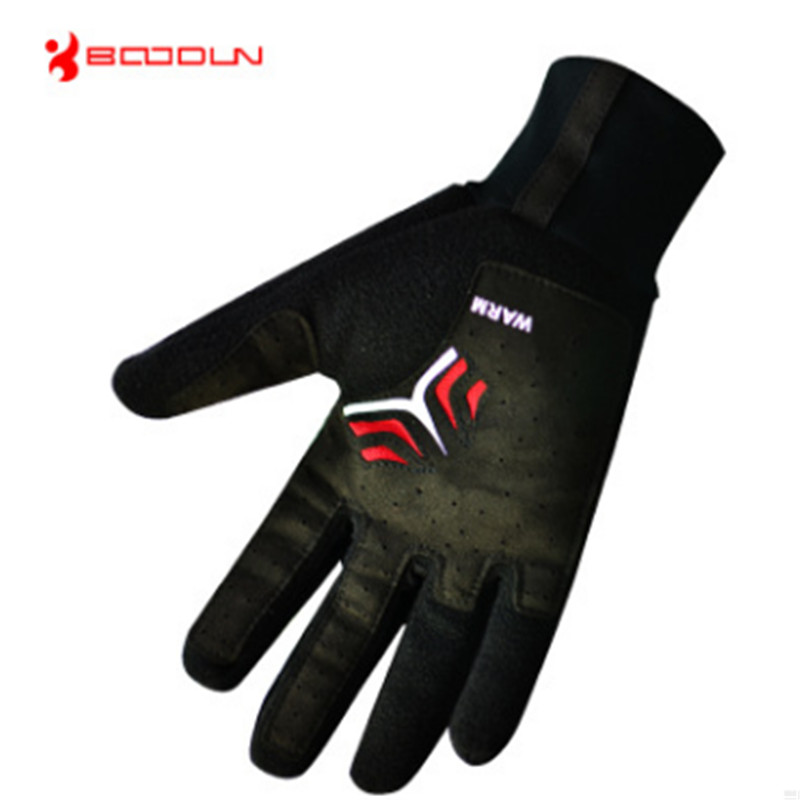 BOODUN Winter warm long finger gloves Outdoor bicycle Motorcycle Riding waterproof The wind Ventilation