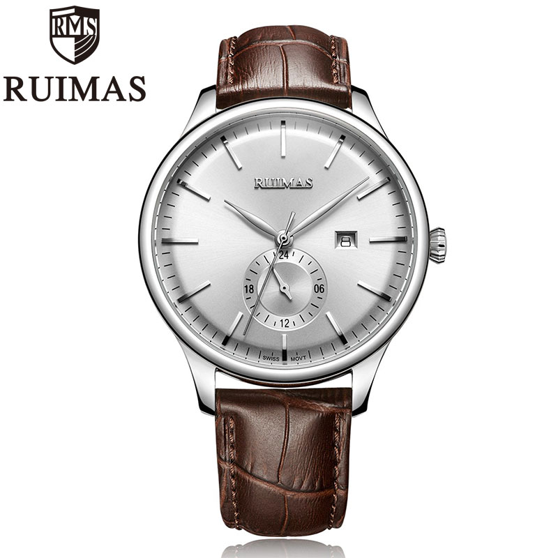 Ruimas Men Watch Luxury Fashion Brand Leather Man Sport Watch Mens Automatic Date Quartz Watches Relogio Masculino