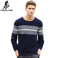 Pioneer Camp casual striped sweater men brand clothing Pullover men fashion Designer sweaters for men 611201