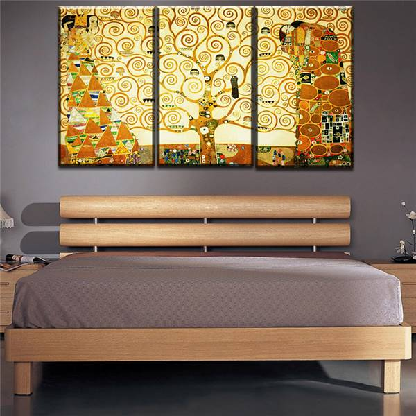3 pcs gustav klimt kiss home decor canvas wall art picture living room canvas print modern. Black Bedroom Furniture Sets. Home Design Ideas