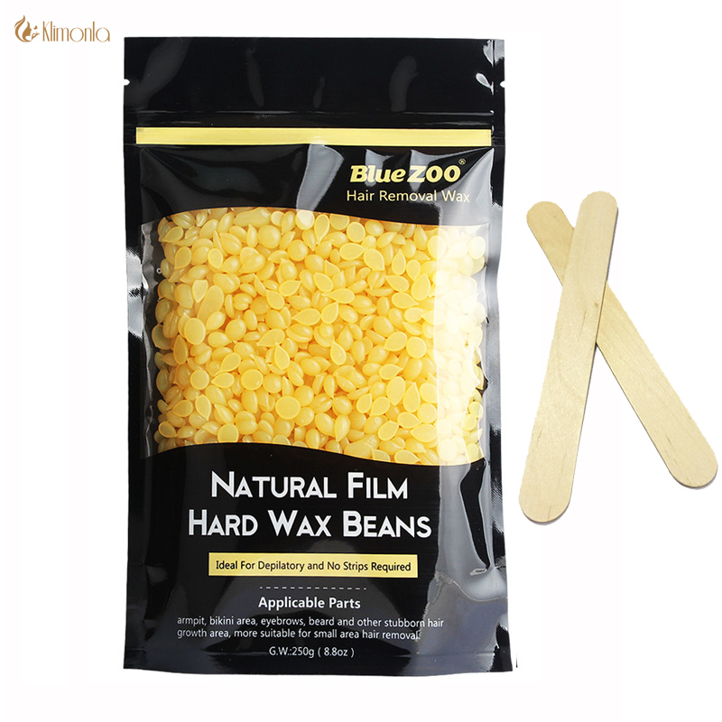 Honey taste Wax Beans Shaving New Depilatory Wax No paper 250G Painless Allergy Moisturizing Melt For All Skin Men And Women