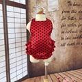 2016 Algodão baby girl roupas de bebê menino roupas do corpo do bebê macacão de bebê Crianças Macacão de Babados Flor FD--E65W8