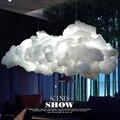 Moderno Romántico Creativo Nubes Blancas Luces Pendientes Lámpara Led Efecto Relámpago Blanco Suave Algodón Nube Flotante Luz