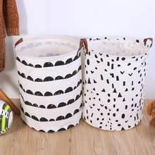 Przechowywanie odzieży kosz składany kosz na pranie Cartoon kosz w kształcie beczki do przechowywania pralnia stojące zabawki Organizer etui gospodarstwa domowego