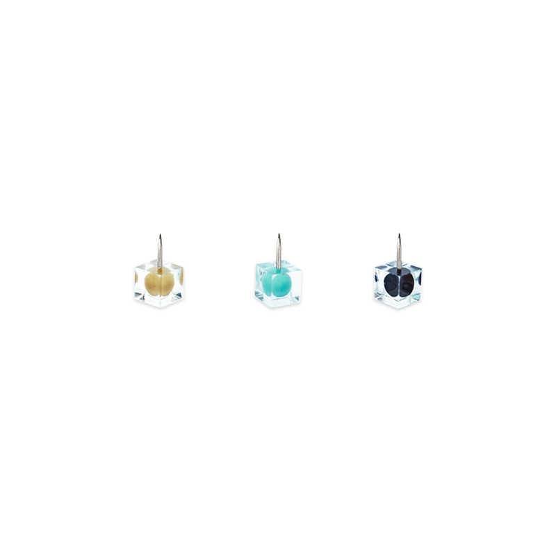 Jianwu Jianwu/Light Biru Seri Indah dan Indah Warna Paku Payung Persegi Push Pin Office Lady Style Kantor Alat Tulis Set
