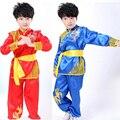 Niños de manga larga niño Taekwondo Dobok Traje de Kimono Traje de Judo ropa de Wushu Kung Fu Chino Tai Chi Artes marciales Uniforme