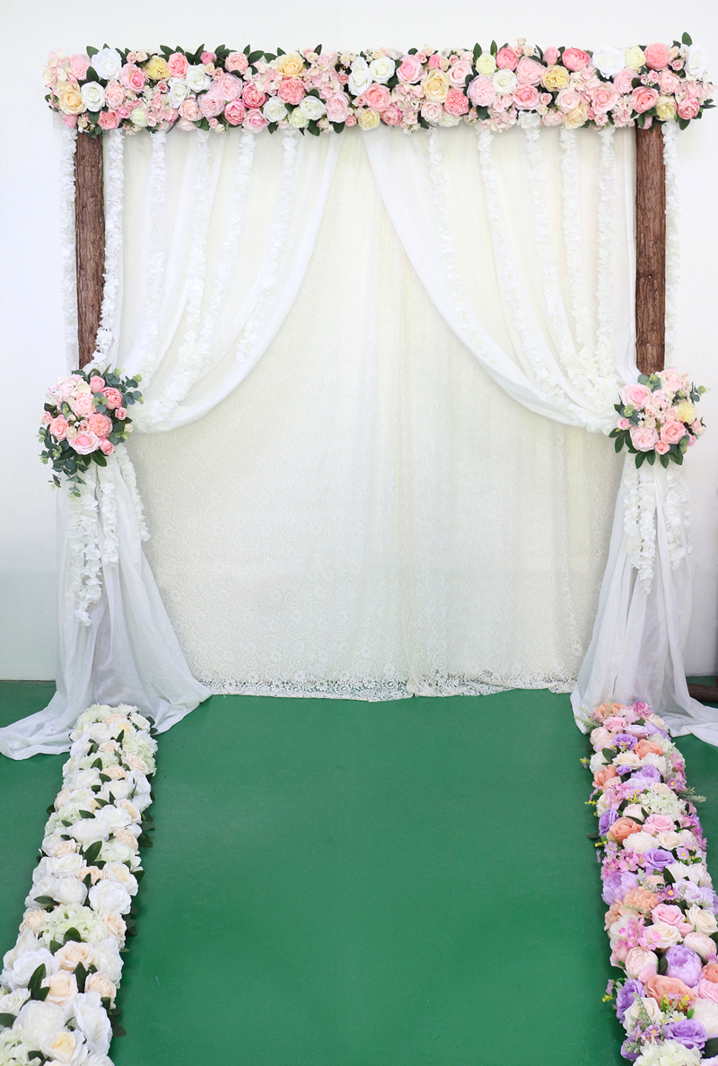 JAROWN Artificial 2M Rose Flower Row Wedding DIY Arched Door Decor Flores Silk Peony Road Cited Fake Flowers Home Party Decoration Maison (34)