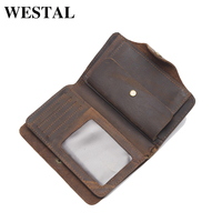 WESTAL High Quality Men Wallet Genuine Leather Fashion Design Large Capacity Men Purses Wallets Small Purse 002 Free Shipping