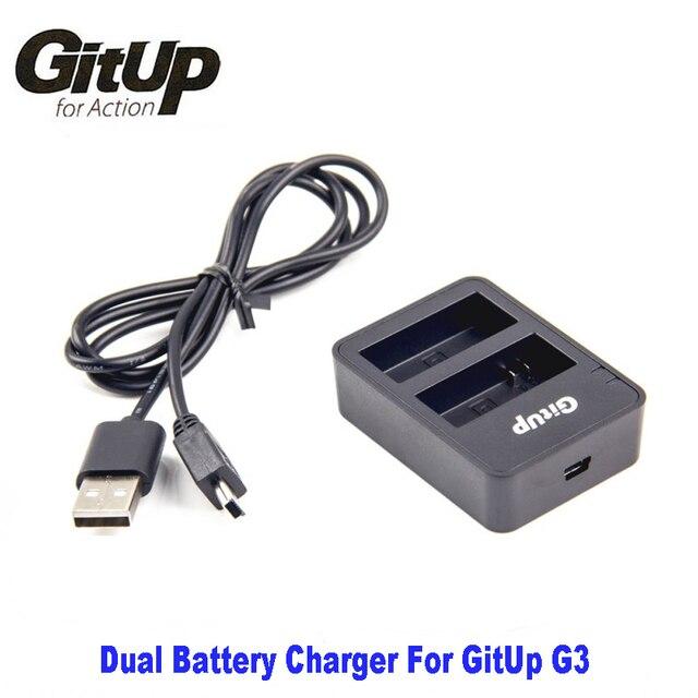 GituUP originais Carregador de Bateria Duplo para GitUp G3 Git3 G3 Duo Action Camera câmera GitUp G3 Convenientemente Carrega Duas Baterias