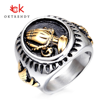 Oktrendy Hand of God Ring Championship Rings Men Punk 316L Stainless Steel Unique Mans Style